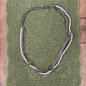 J.Crew multi material knot necklace